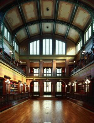 La salle de la Bibliotheque Solvay