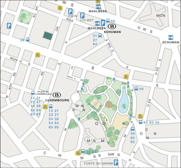 Plan bus et métro